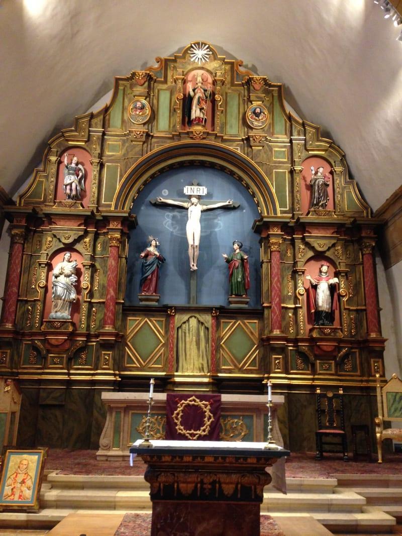 CHL #135  Mission San Carlos Borromeo de Carmelo--  Front Altar