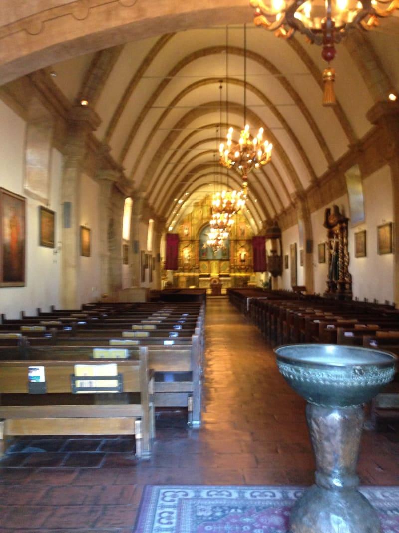 CHL #135  Mission San Carlos Borromeo de Carmelo--Interior