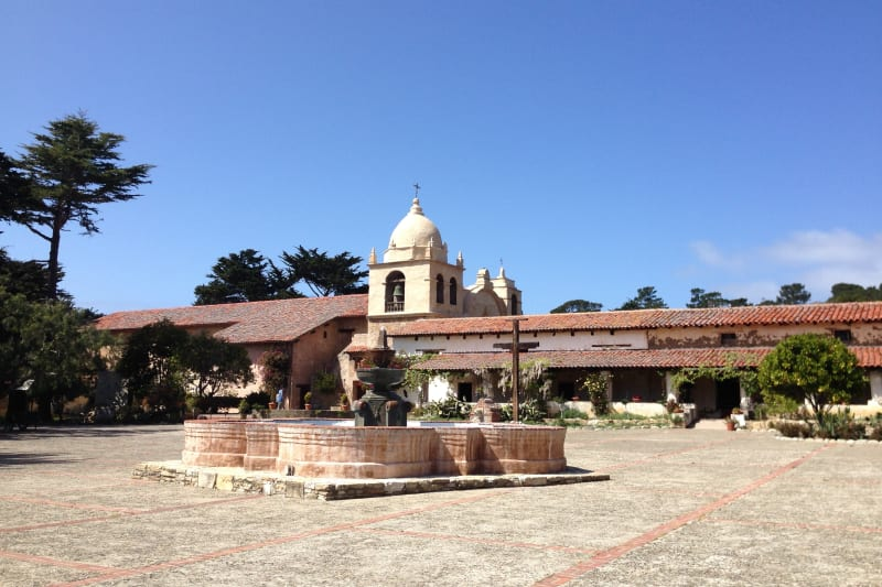 CHL #135  Mission San Carlos Borromeo de Carmelo, Plaza