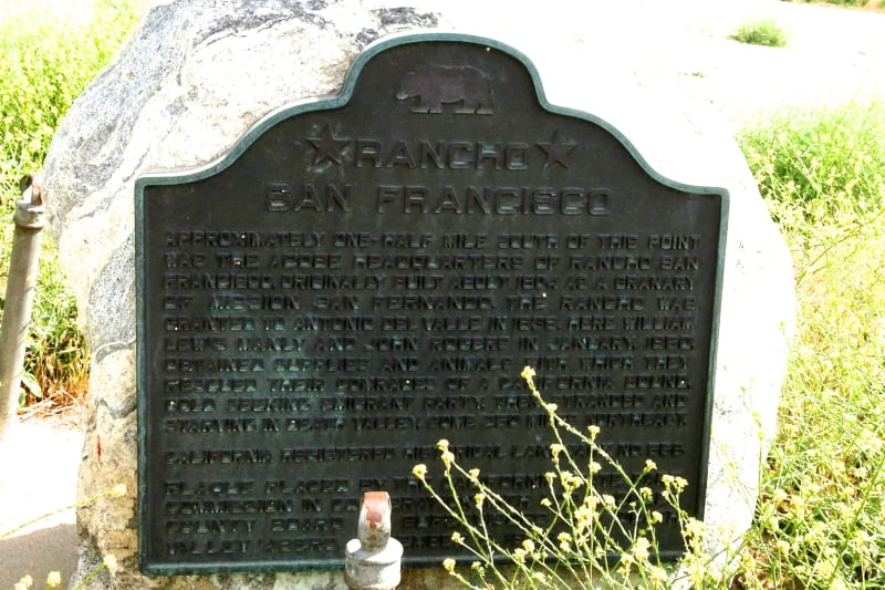 NO. 556 RANCHO SAN FRANCISCO State Plaque