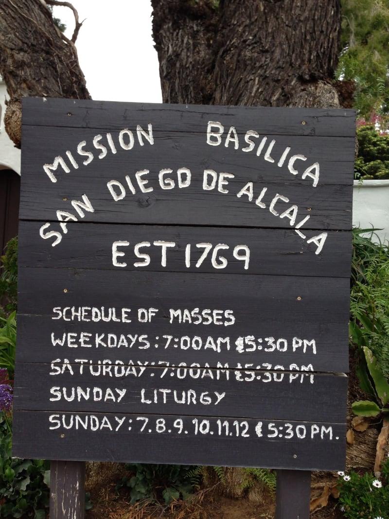CHL #242 - Mission San Diego de Alcala - Hours