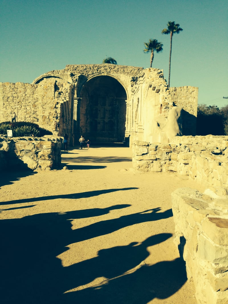 CHL #200 Mission San Juan Capistrano Great Stone Church, destroyed by 1812 earthquake