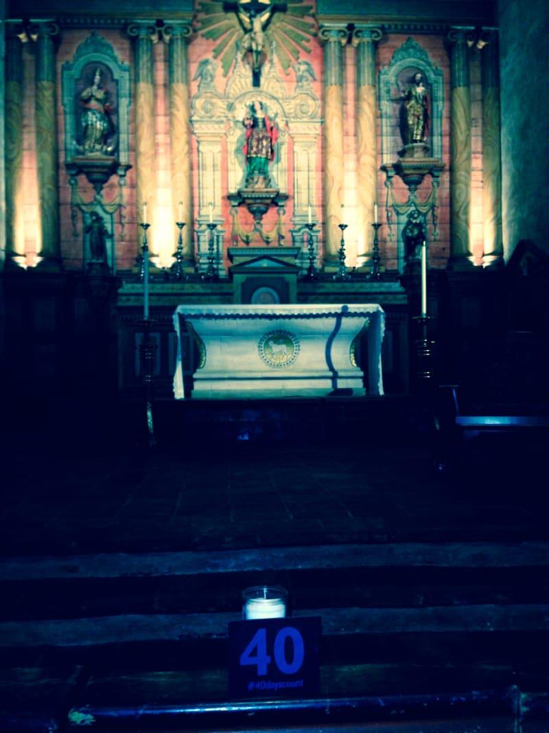 CHL #310 Mission San Buenaventura -- Front Altar