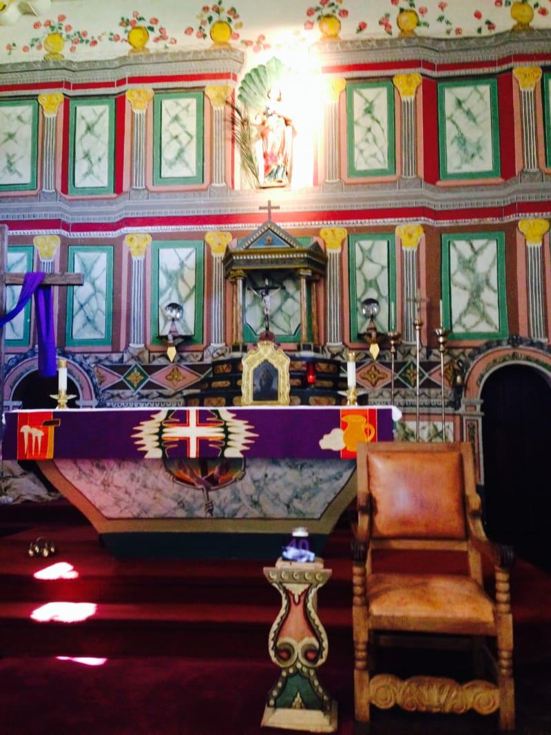 CHL #305 Mission Santa Inés -- Front Altar
