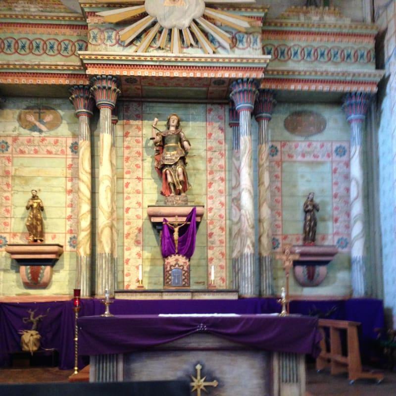CHL #326 - Mission San Miguel Arcángel -- Front Altar