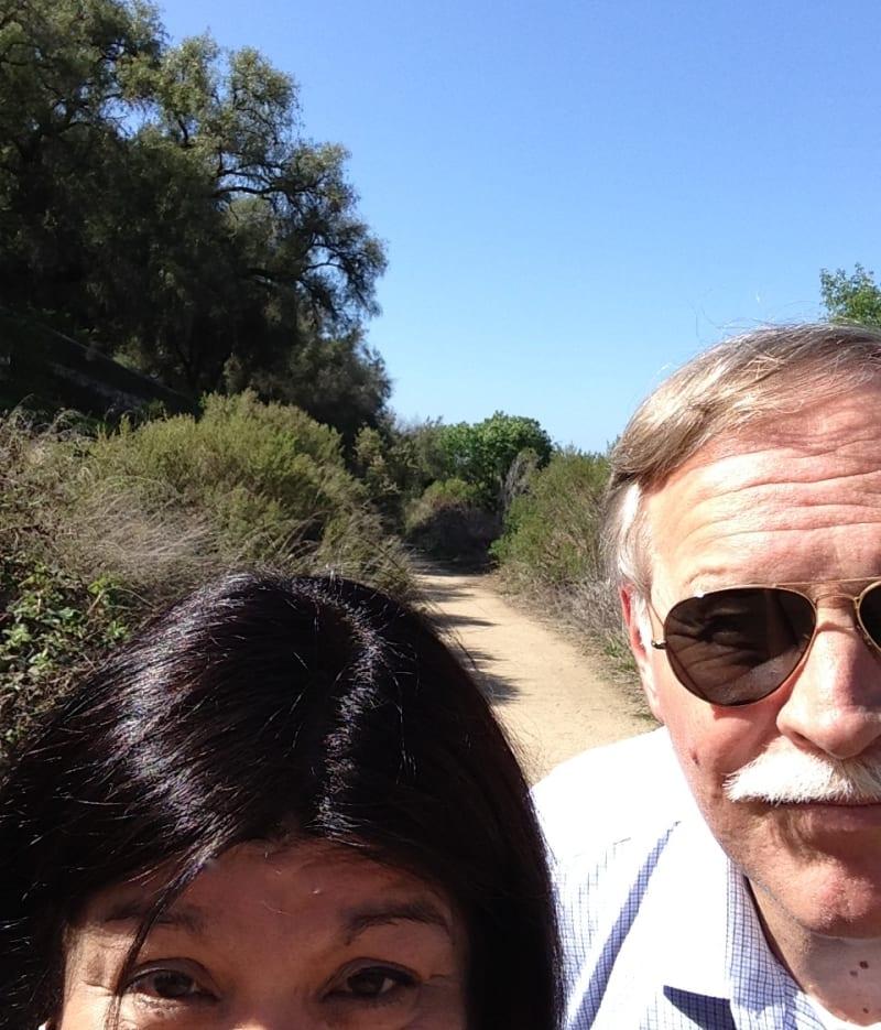 Walking Down El Camino Real adjacent to San Juan Bautista