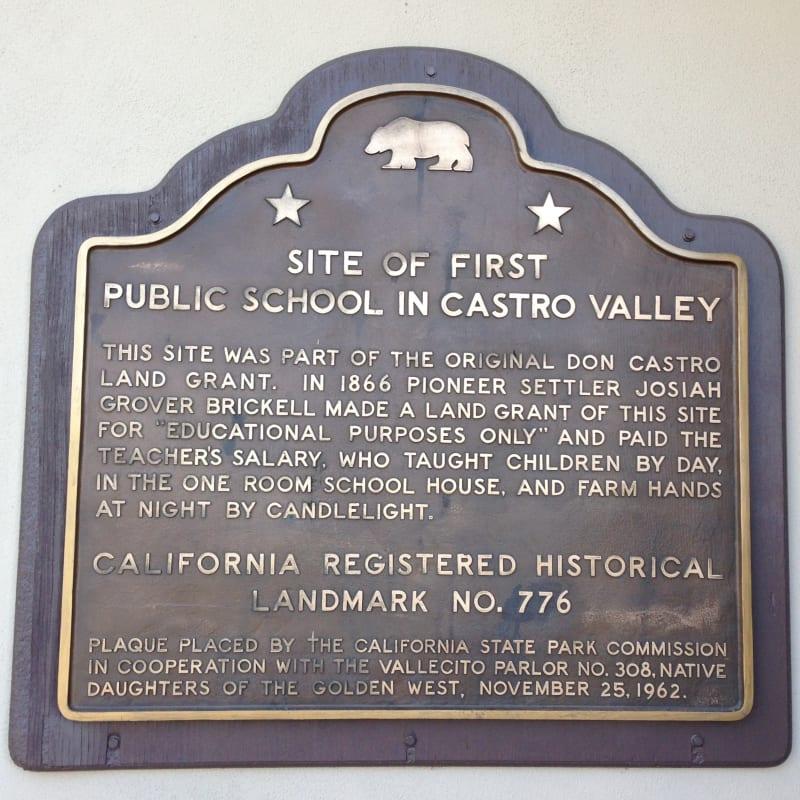 CHL #776 Castro Valley Public School Site - State Plaque