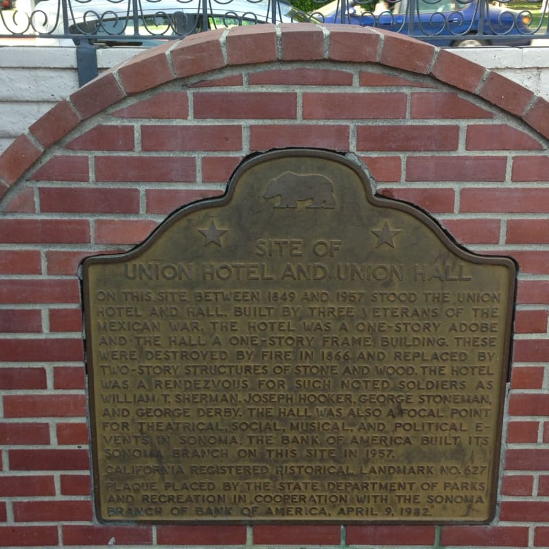 CHL #627 - Union Hotel and Union Hall Site- State plaque