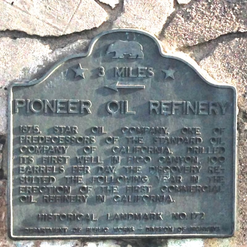 CHL #172 - Pioneer Oil Refinery State Plaque