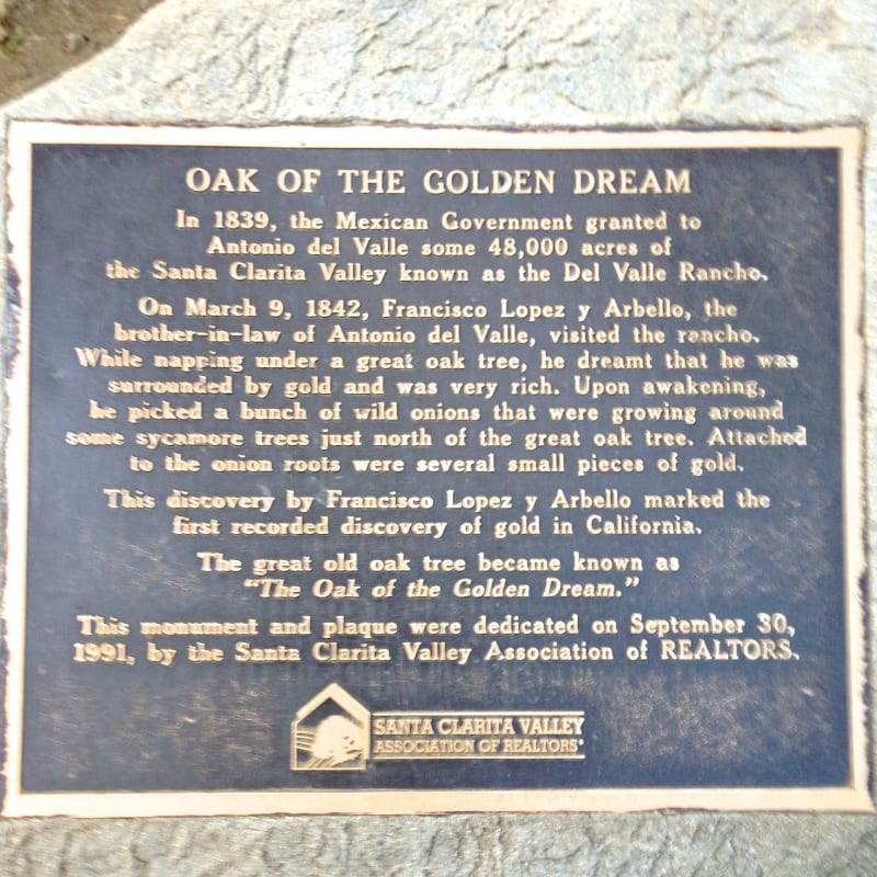 CHL #168  Oak of the Golden Dream Private Plaque