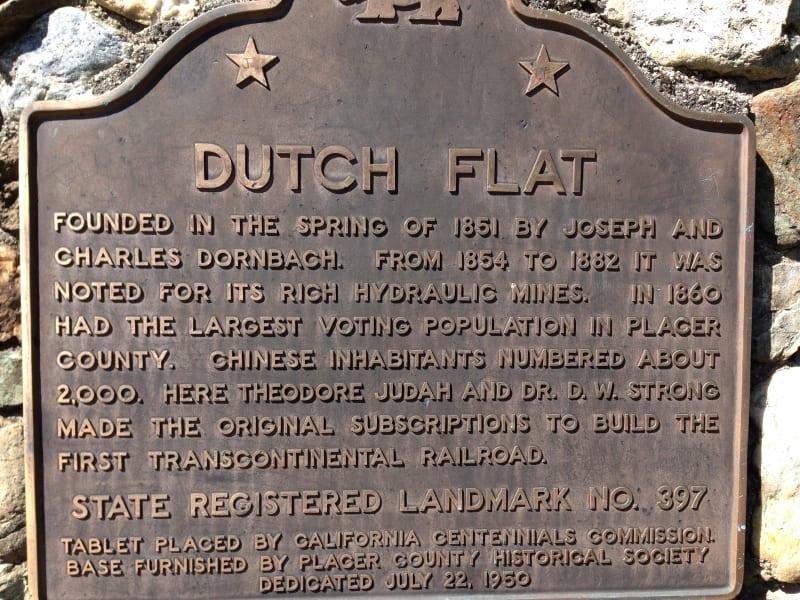 CHL #397 Dutch Flat State Plaque