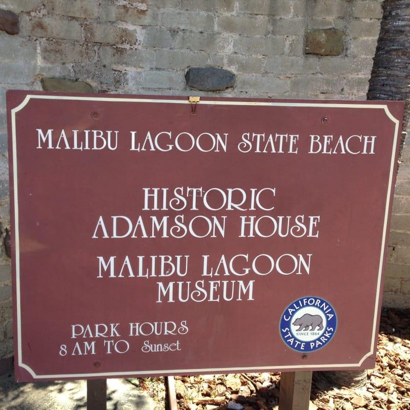 CHL #966  Adamson House Street Sign