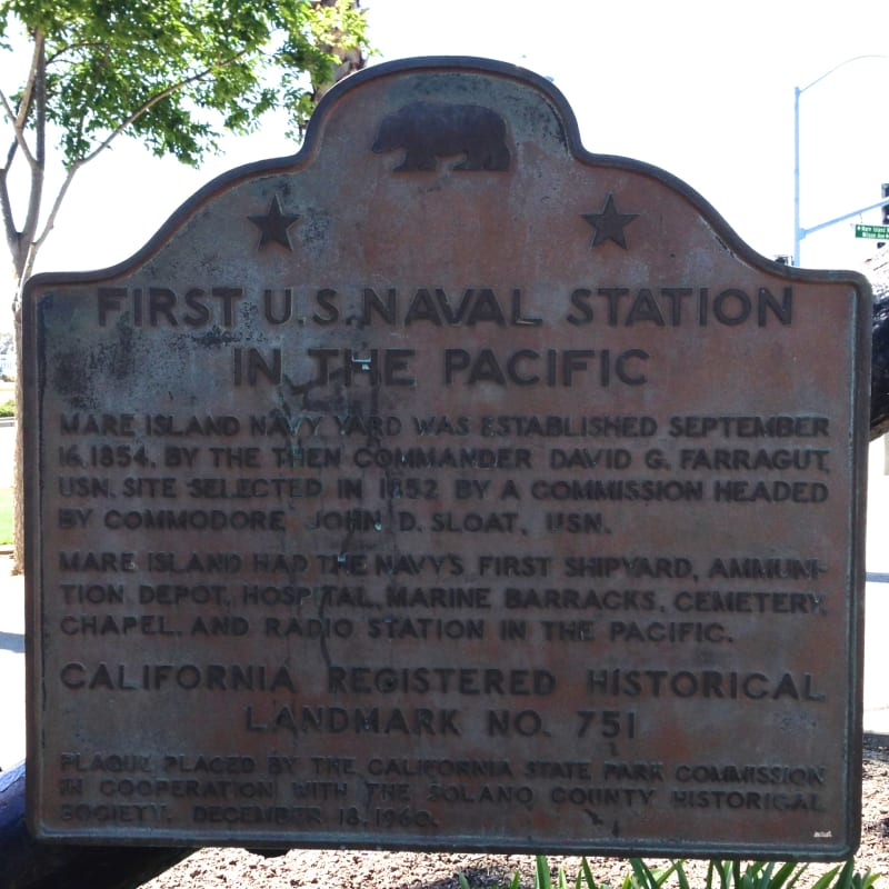 CHL #751 - Mare Island Commemorative Plaque- First U.S. Naval Station in the Pacific