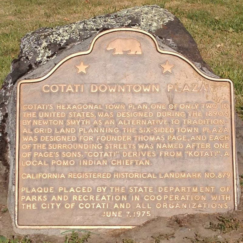 CHL #879 - Cotati Downtown Plaza State Plaque