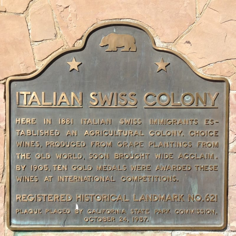 CHL #621 - Italian Swiss Colony State Plaque