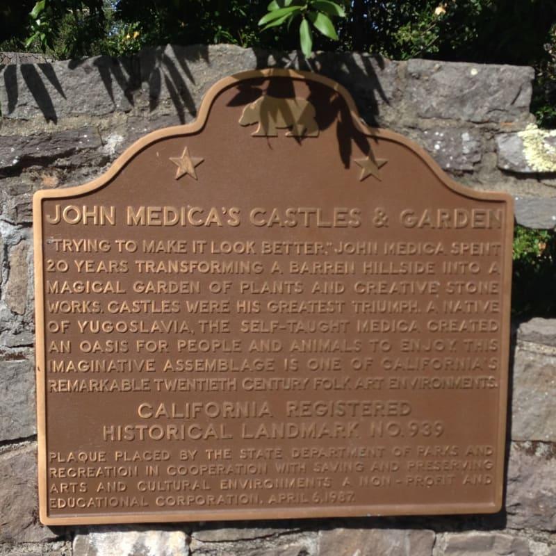 CHL #939 JOHN MEDICA GARDENS State Plaque