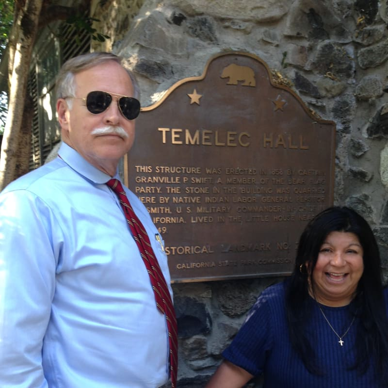 CHL #237 - Temelec Hall State Plaque on back wall