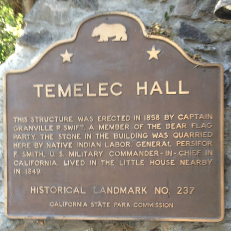 CHL #237 - Temelec Hall State Plaque