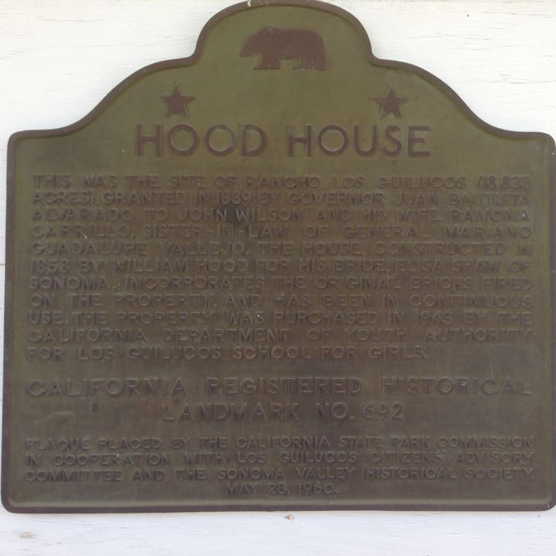 CHL #692 - Hood House State Plaque