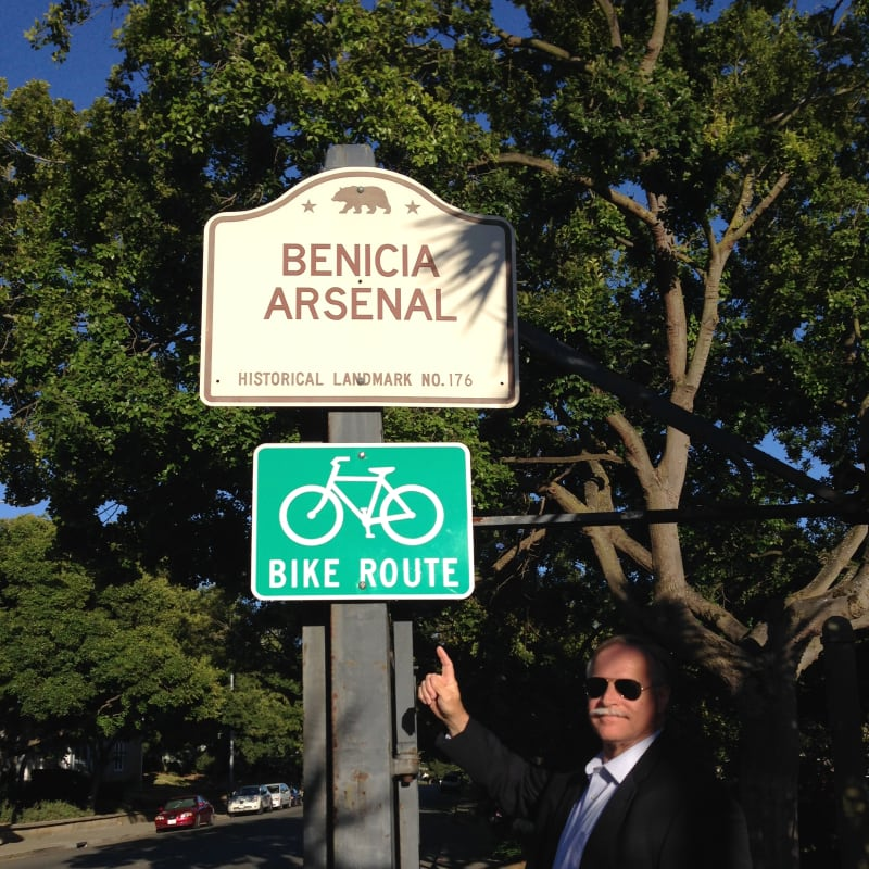CHL #176  Benicia Arsenal Street Sign