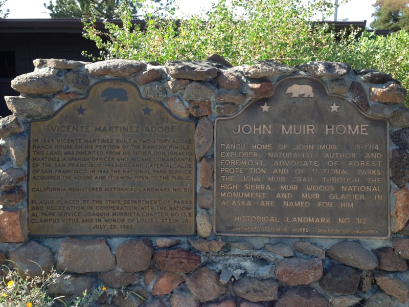 CHL #312 - John Muir National Historic Site Plaques in Parking Lot