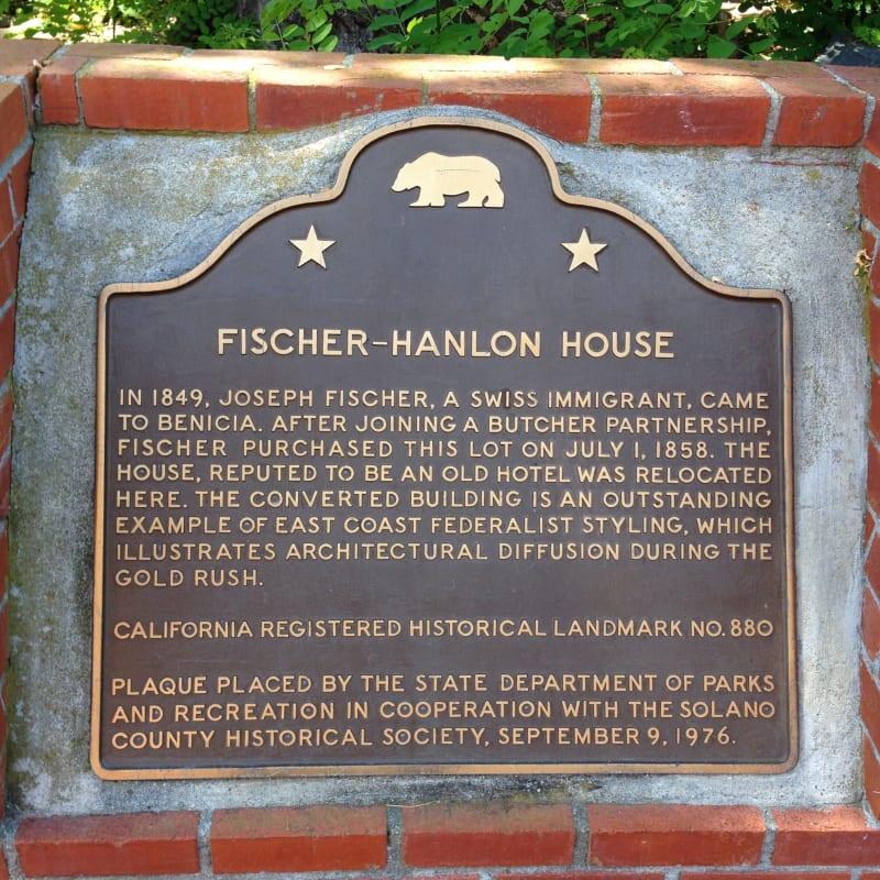 CHL #880 - Fischer-Hanlon House State Plaque