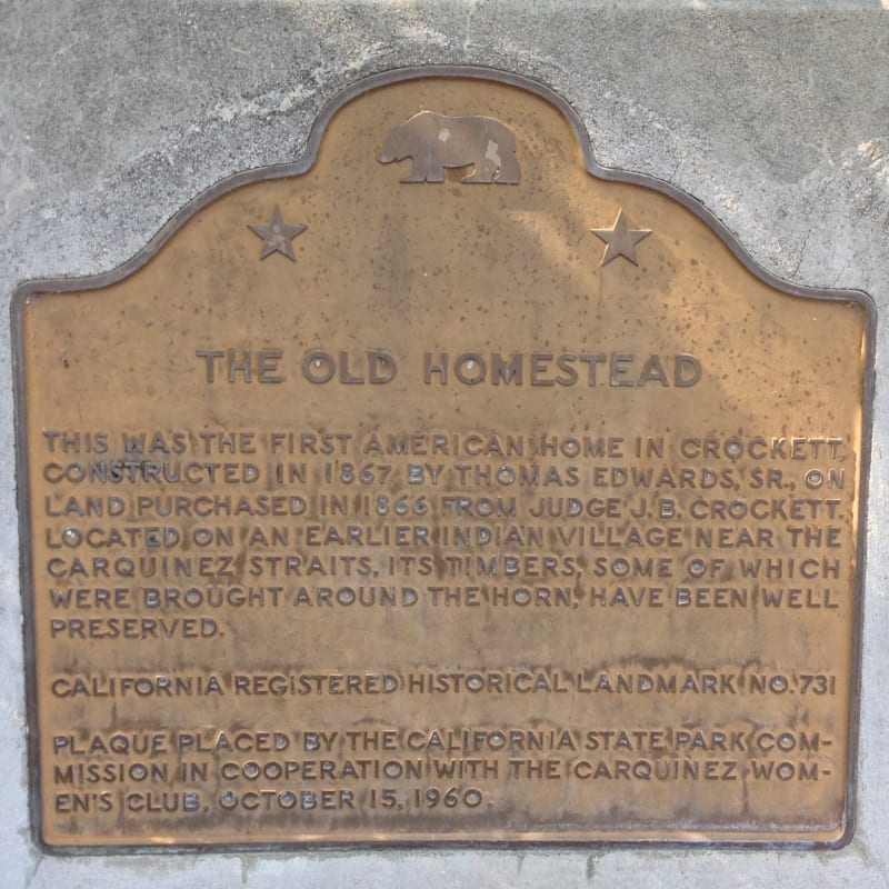 CHL #731 - Old Homestead State Plaque