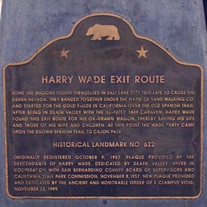 CHL #622 - Harry Wade Exit Route State Plaque