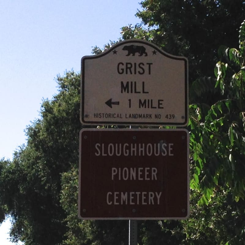CHL #439 - Sheldon Grist Mill Site Street Sign