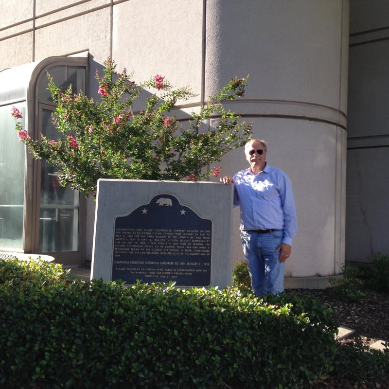CHL #869 SITE OF FIRST AND SECOND STATE CAPITOLS AT SACRAMENTO