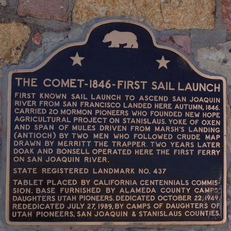 CHL #437 - Sailing Launch Comet State Plaque