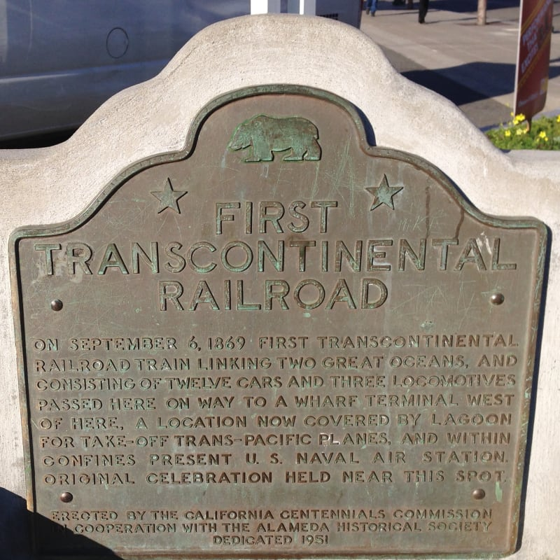 CHL #440  Alameda Terminal of Transcontinental Railroad State Plaque