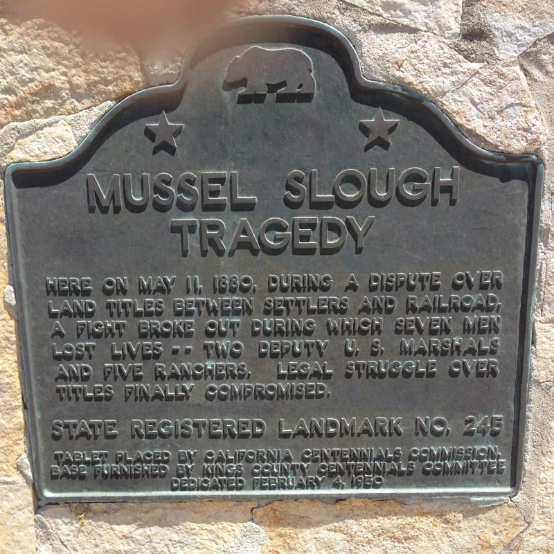 CHL #245 Mussel Slough Tragedy