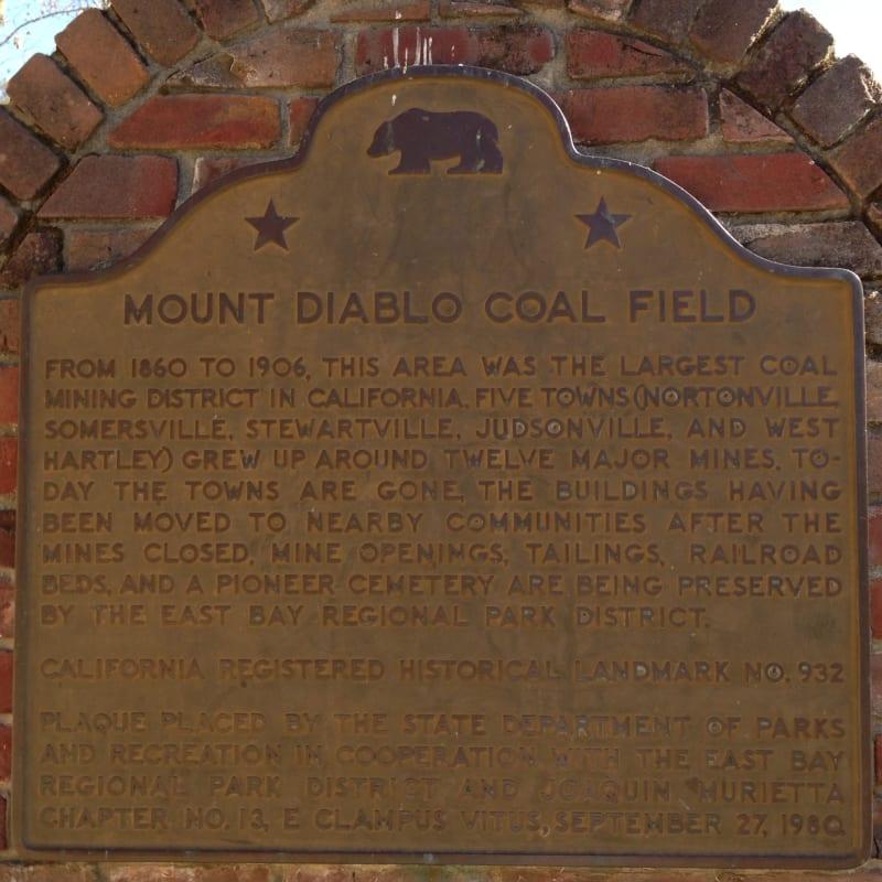 CHL #932  Mount Diablo Coal Field State Plaque