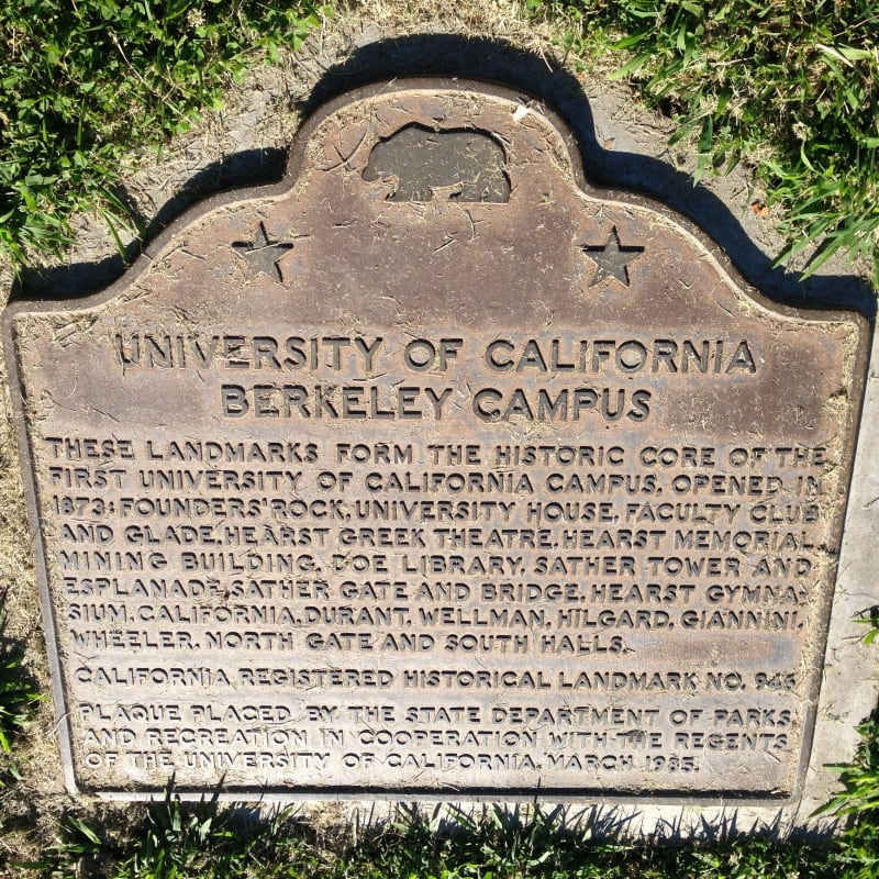 CHL #946  University of California, Berkeley State Plaque