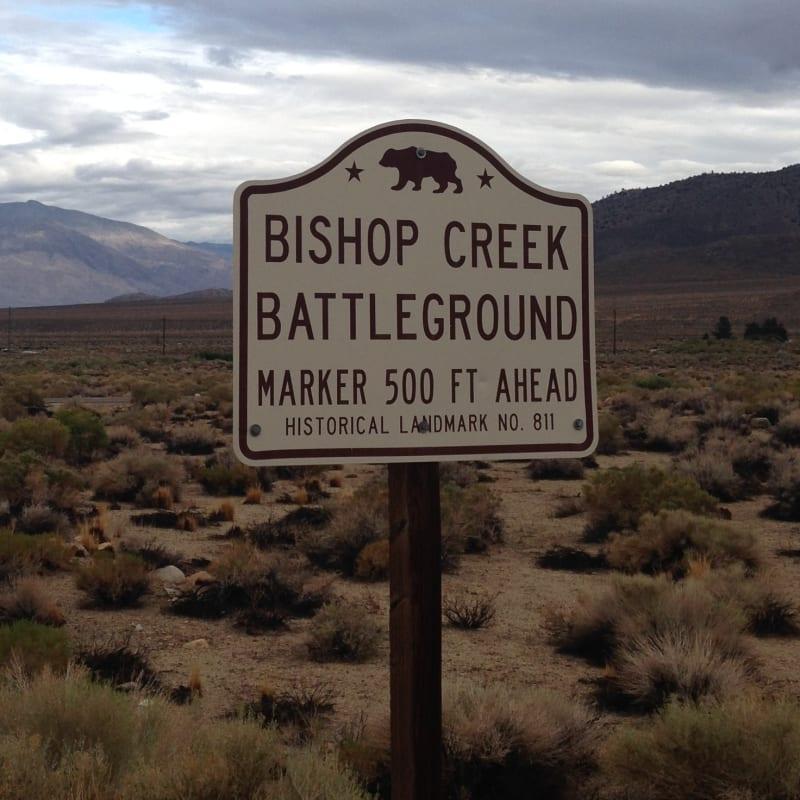 CHL #811 Bishop Creek Battleground Street Sign