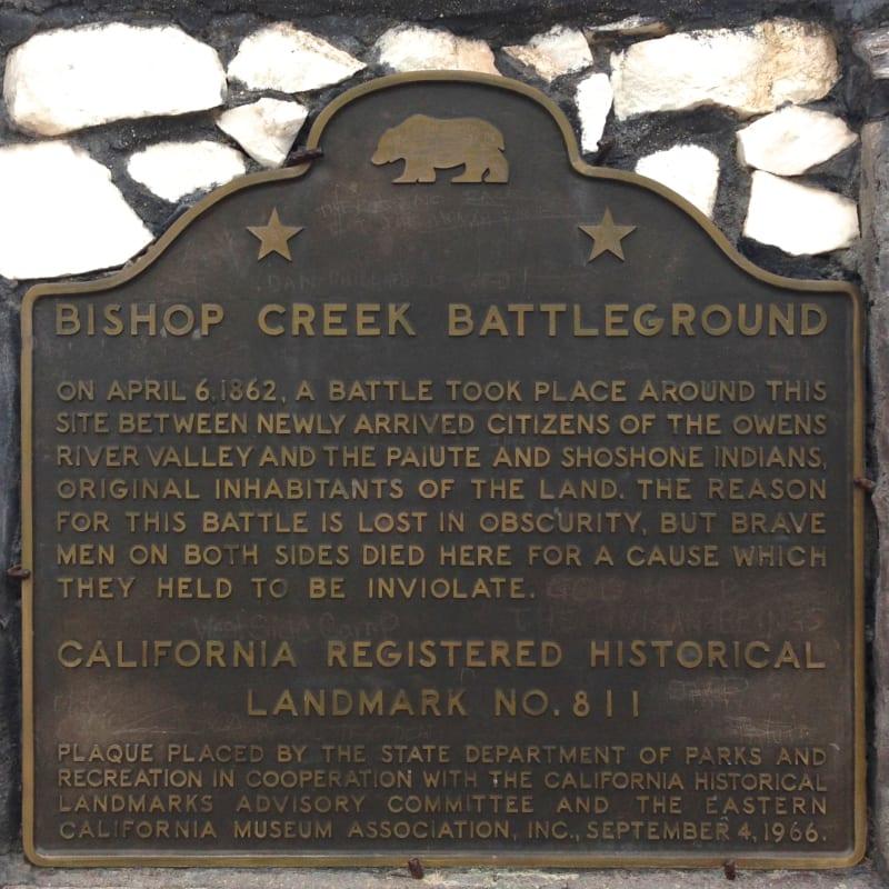 CHL #811 Bishop Creek Battleground State Plaque