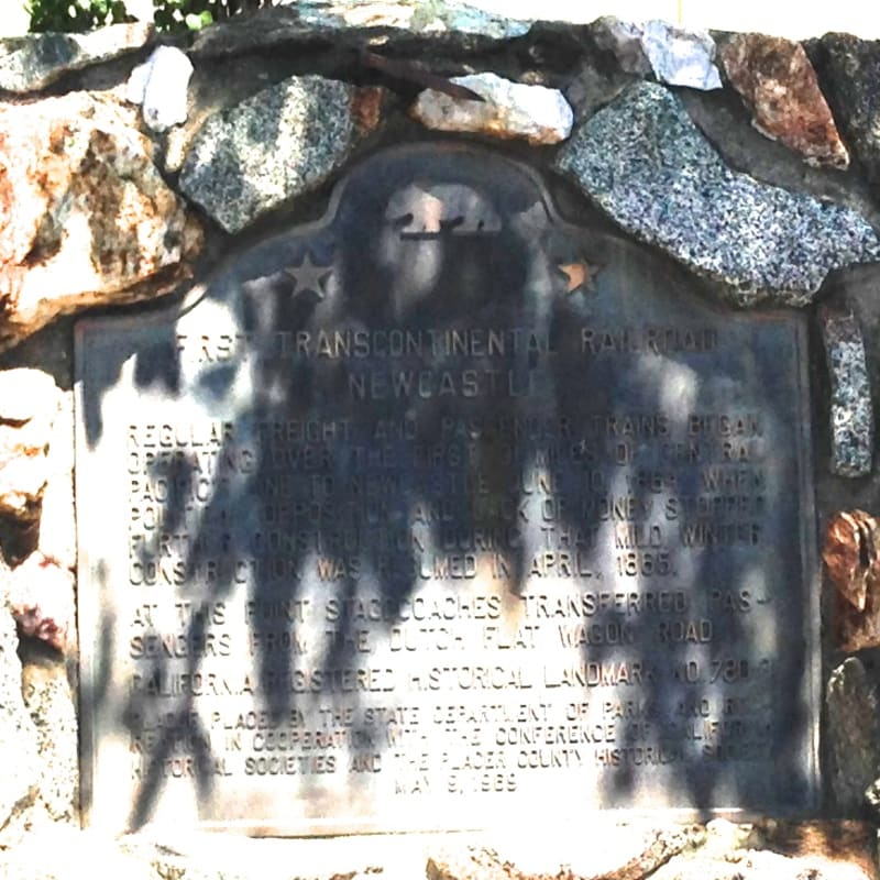 CHL #780.3  First Transcontinental Railroad-Newcastle State Marker
