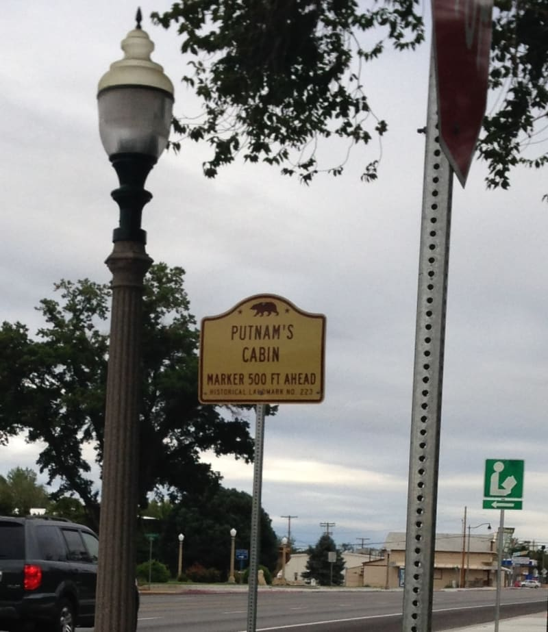 CHL #223 Putnam's Cabin Street Sign