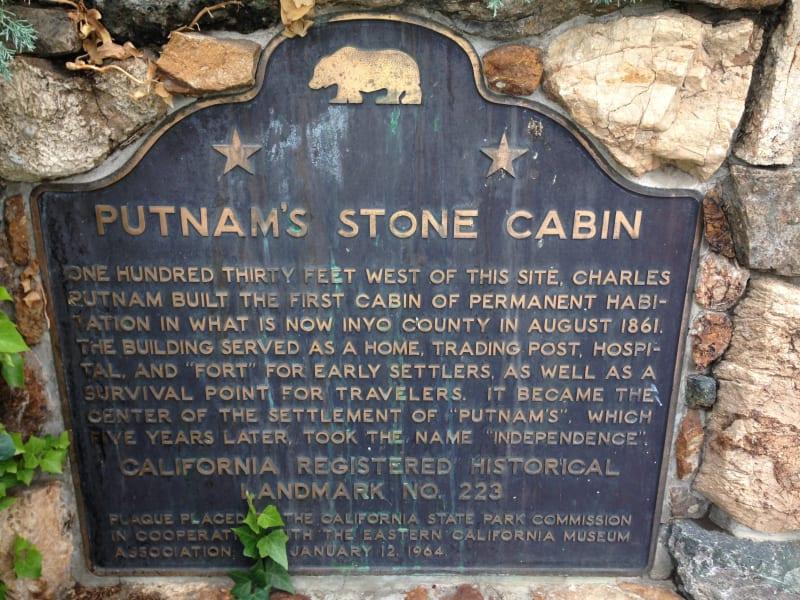 CHL #223 Putnam's Cabin State Plaque
