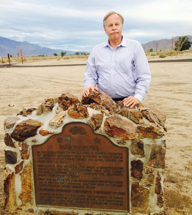 CHL #850  Manzanar Relocation Center - Marker