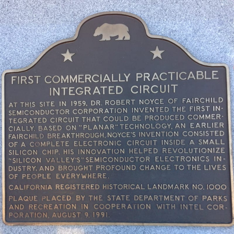 CHL #1000  Integrated Circuit Invention Site State Plaque