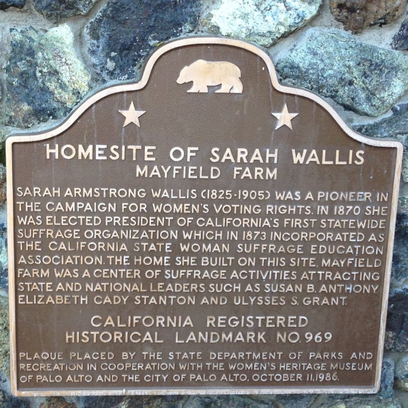 CHL #969 Sarah Wallis Home Site State Plaque