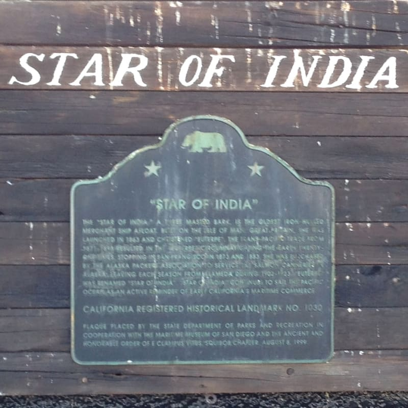 CHL #1030  Star of India State Plaque
