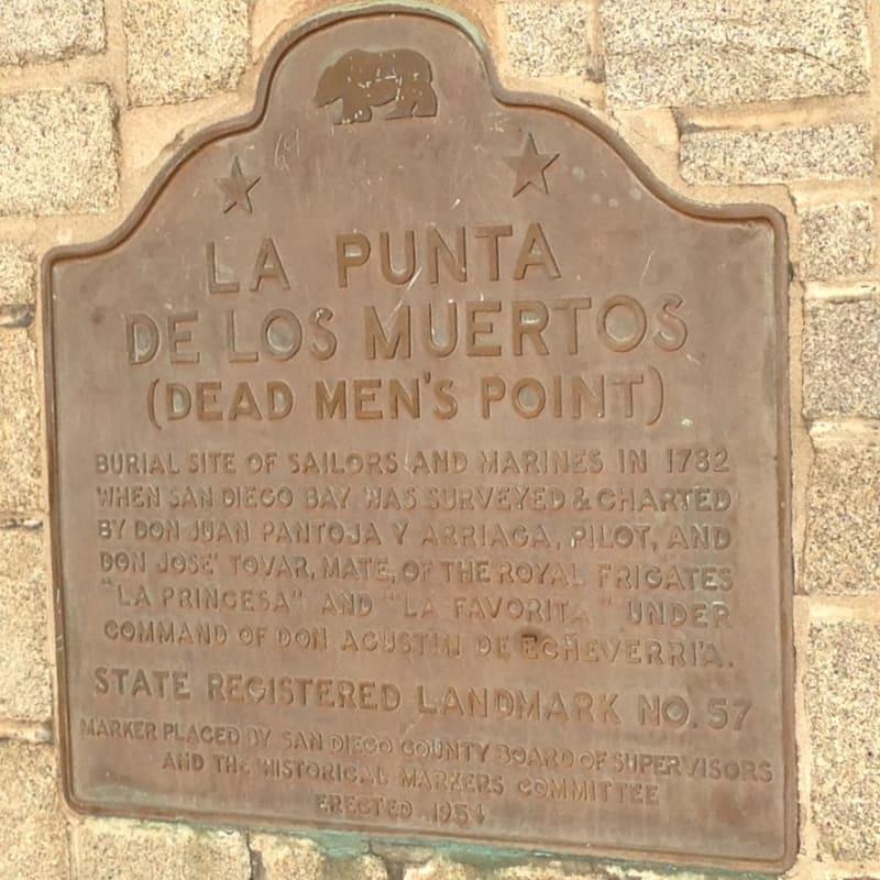 CHL #57  La Punta de Los Muertos - State Plaque