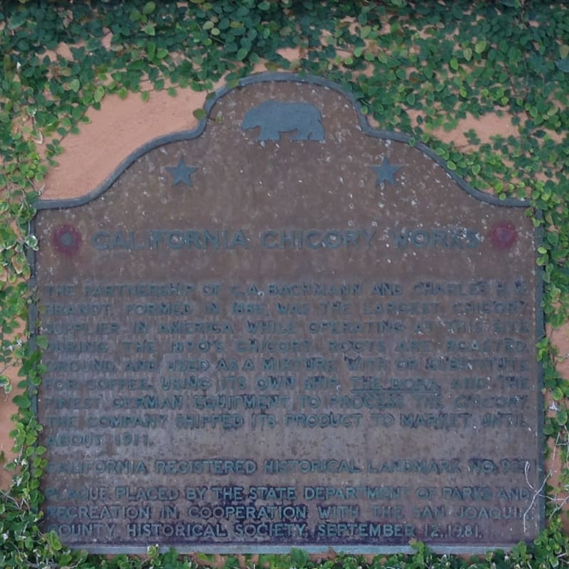 CHL #935  California Chicory Works Stae Plaque