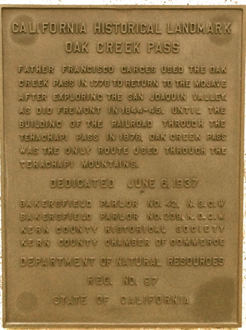 CHL #97 Oak Creek Pass Private Plaque