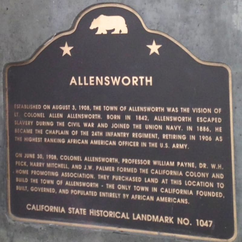 CHL #1047  Allensworth State Plaque