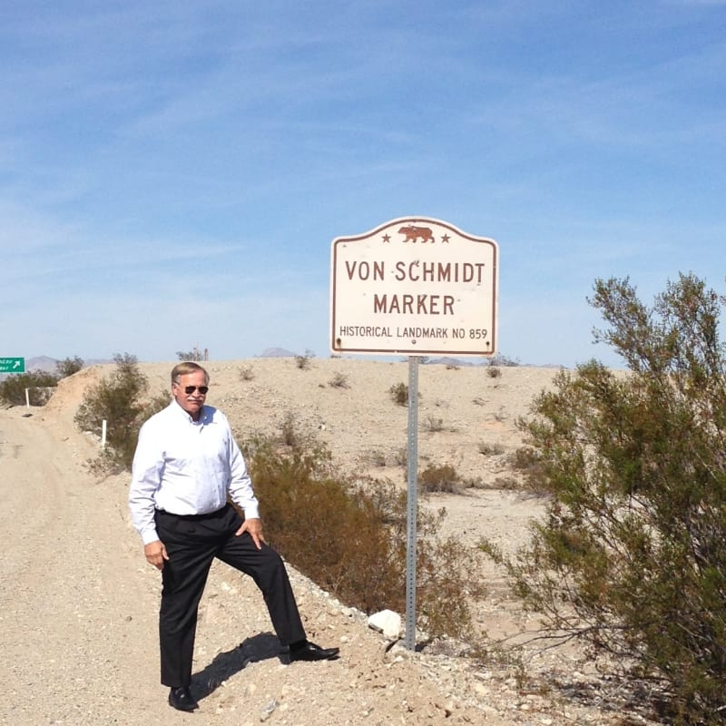 CHL #859 - Von Schmidt State Boundary Monument Street Sign