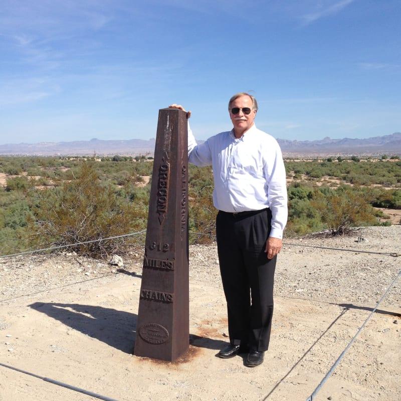 CHL #859 - Von Schmidt State Boundary Monument Marker